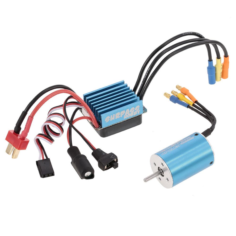 surpass hobby 2838 4500kv sensorless brushless motor und 35a brushless regler f r 1 18 1 16 rc