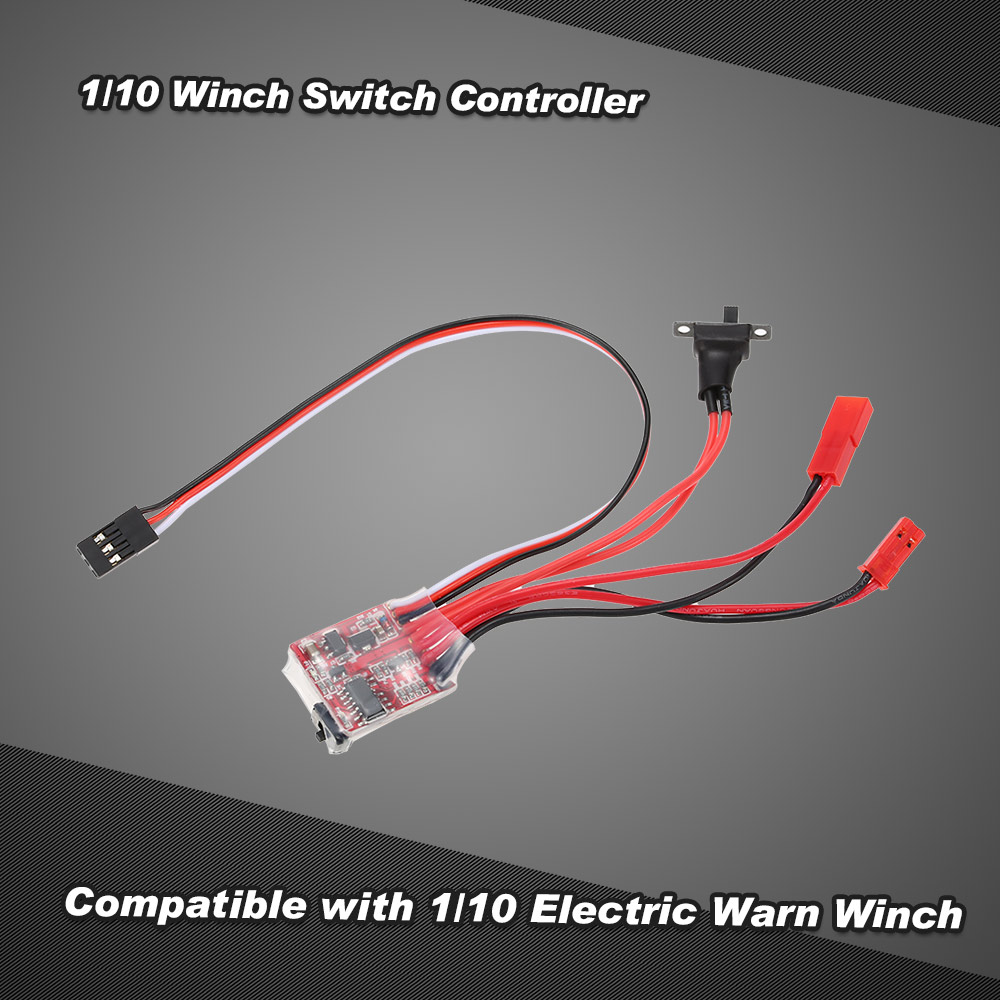 1 10 Winch Switch Controller For Rc Jeep Axial Scx10 Ax10 Wiring Tamiya Cc01 Hsp Traxxas Rc4wd Rock Crawler