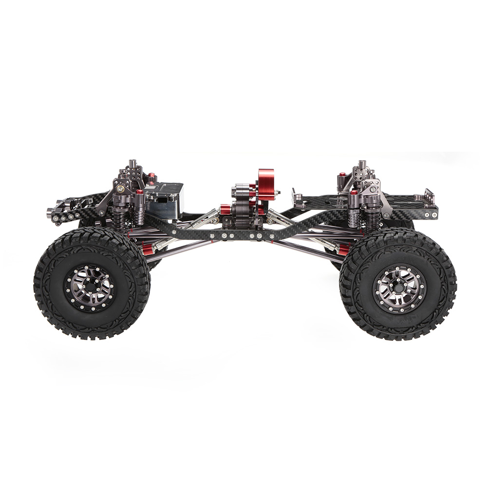 1/10 Cool Racing CNC aluminio y marco de carbono AXIAL SCX10 chasis ...