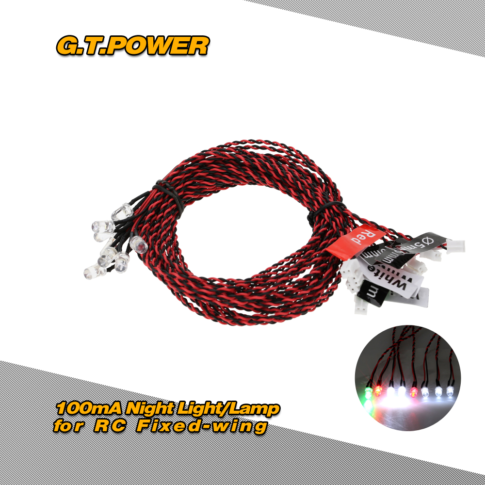 Gtpower Flight Simulated And Flashing System Led Night Light Wiring Navigation Lights For Rc Fixed Wing