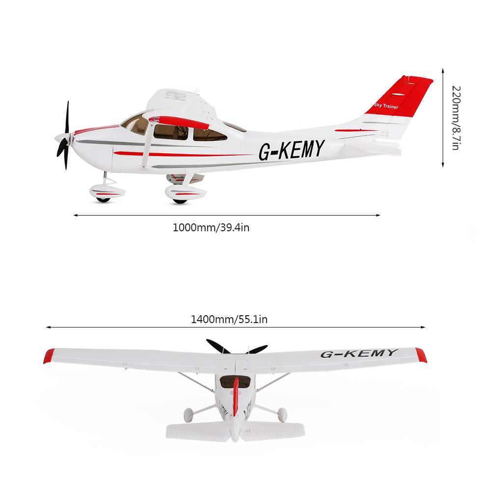 Original Sonicmodell 1400mm Wingspan Cessna 182 500 Class EPO Fixed-wing  Airplane PNP Version RC Aircraft (with ESC, Motor, Servo ) - Rcmoment com