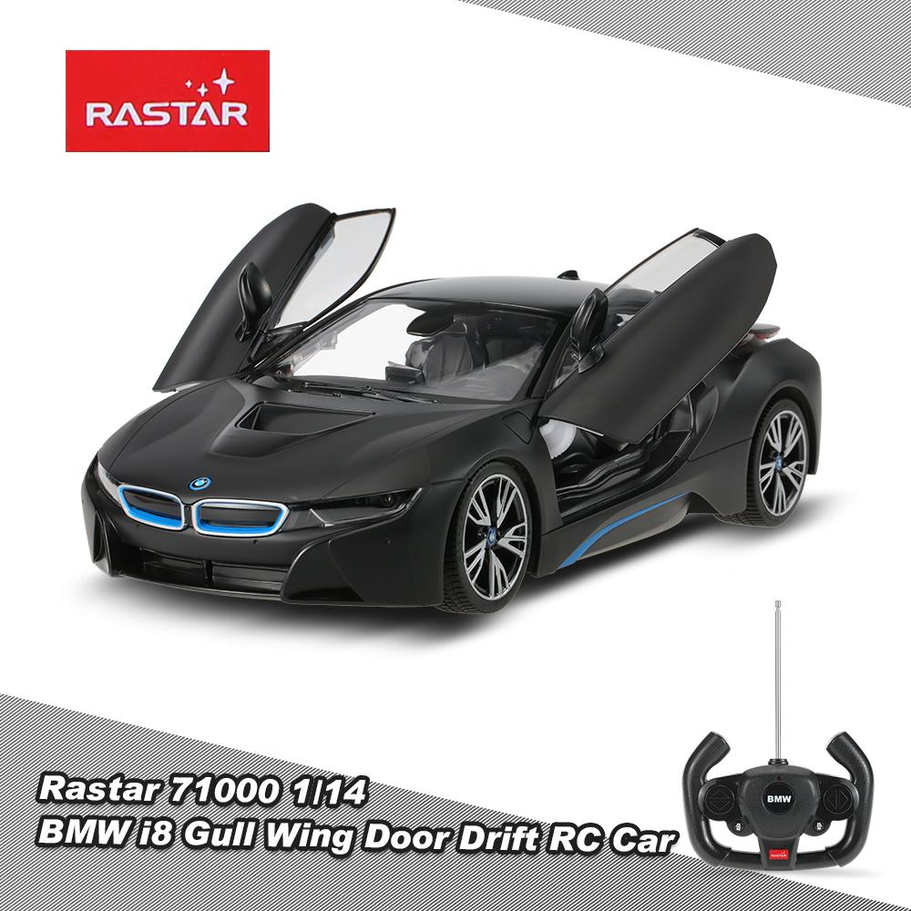 black Rastar 71000 1/14 BMW i8 Gull Wing Door Drift RC Car ...