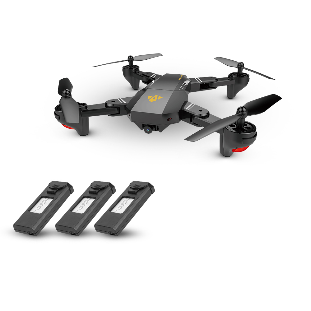 VISUO XS809HW Wifi FPV 0 3MP Camera Foldable Selfie Drone Height Hold RC  Quadcopter G-Sensor RTF Extra Two Battery