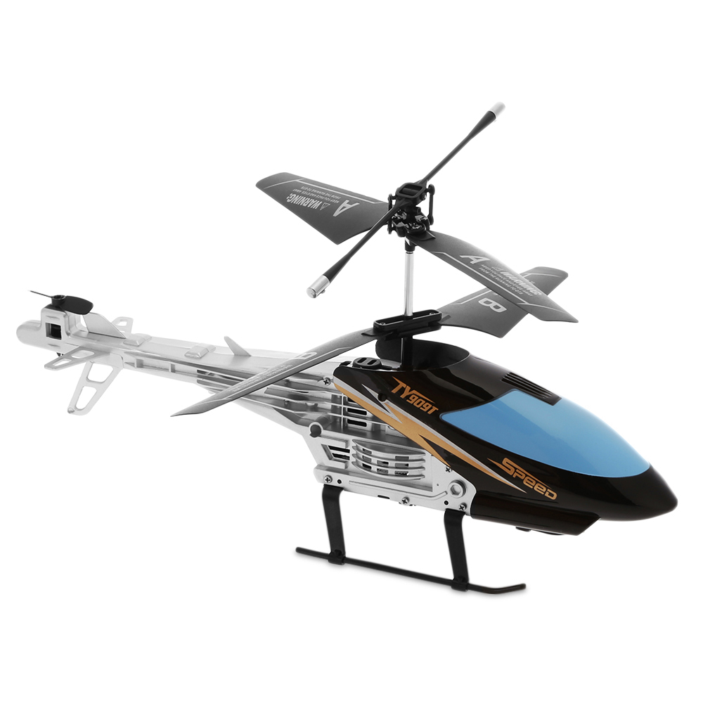 Black Flytec Ty909t 2ch Rc Helicopter With Gyroscope For Kids Toys