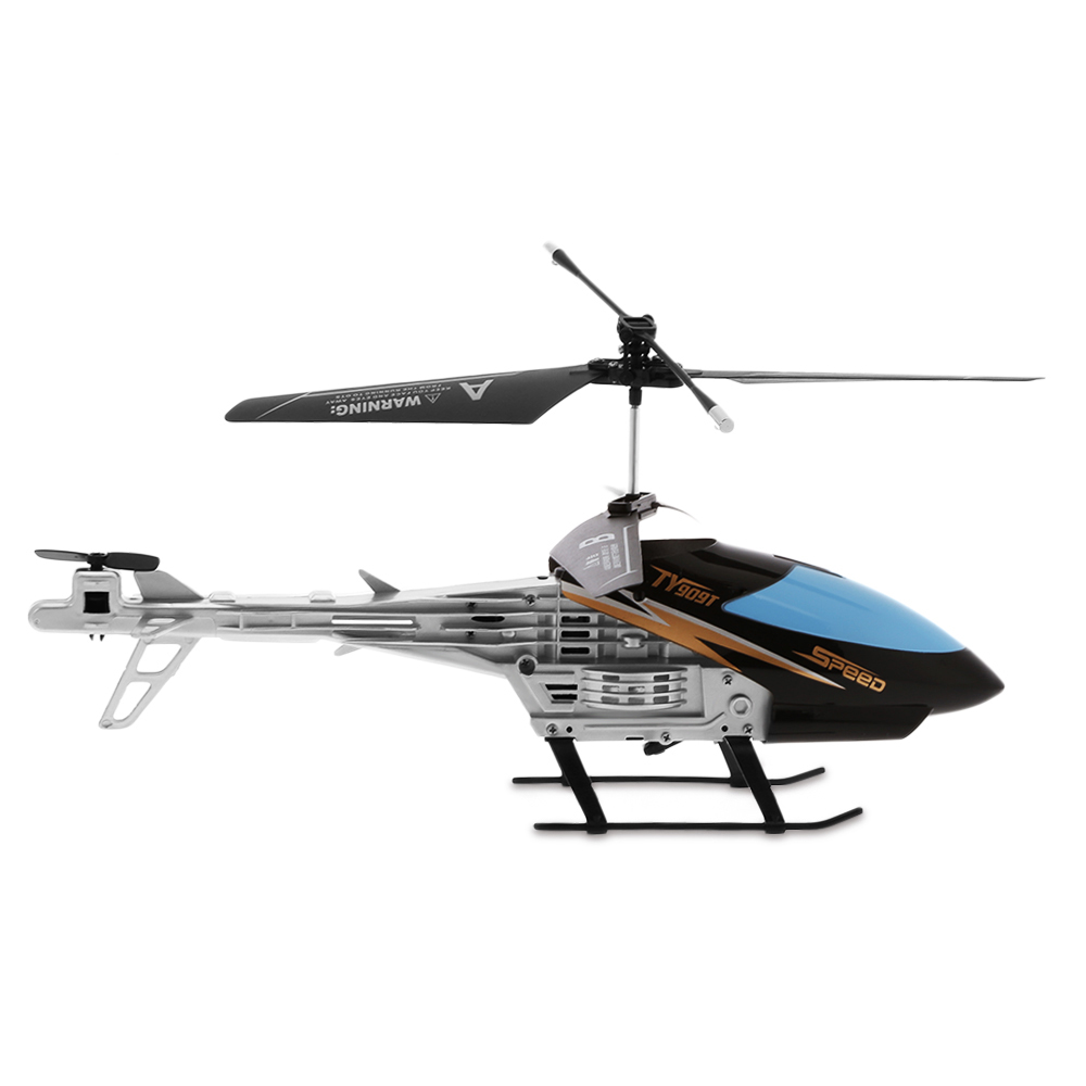 Black Flytec TY909T 2CH RC Helicopter With Gyroscope For