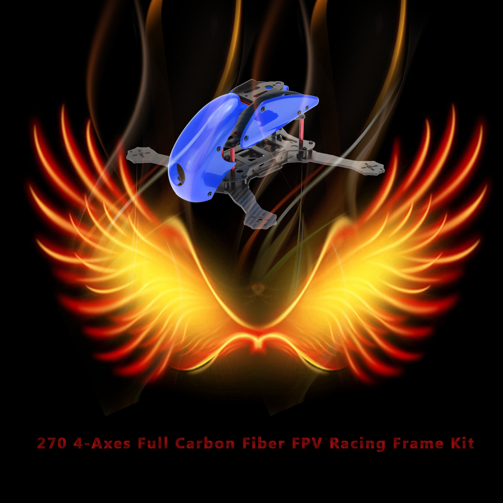 270 4-Achsen Vollcarbon Faser FPV Racing Rahmen Kit für Quadcopter ...