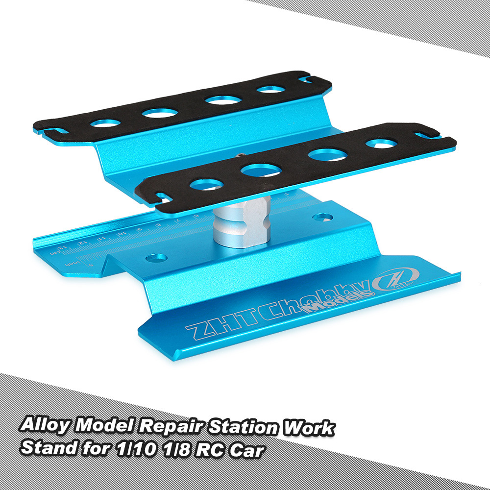 blue Alloy Model Repair Station Work Stand Rotate 360° for 1/10 1/8 ...