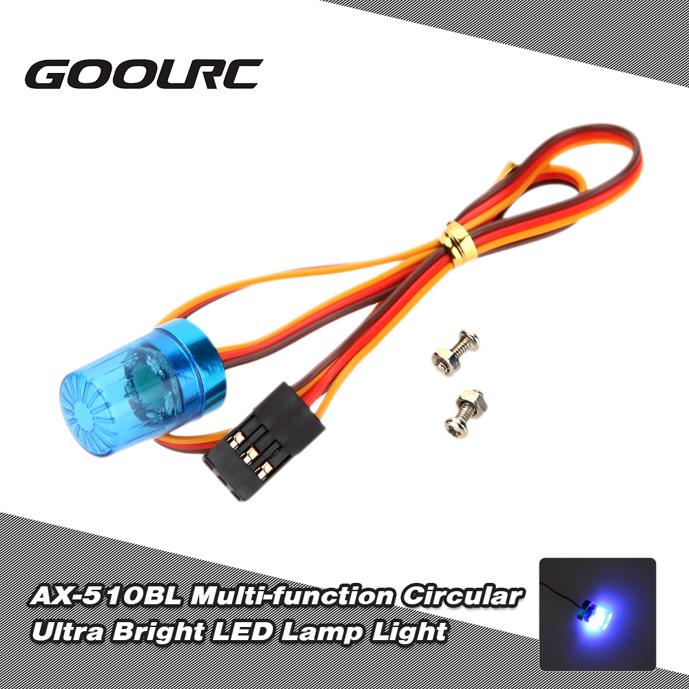 blau Original GoolRC AX-510BL Multi-function Circular Ultra Bright Police  LED Light for RC Police Firefighting Ambulance Car Light with