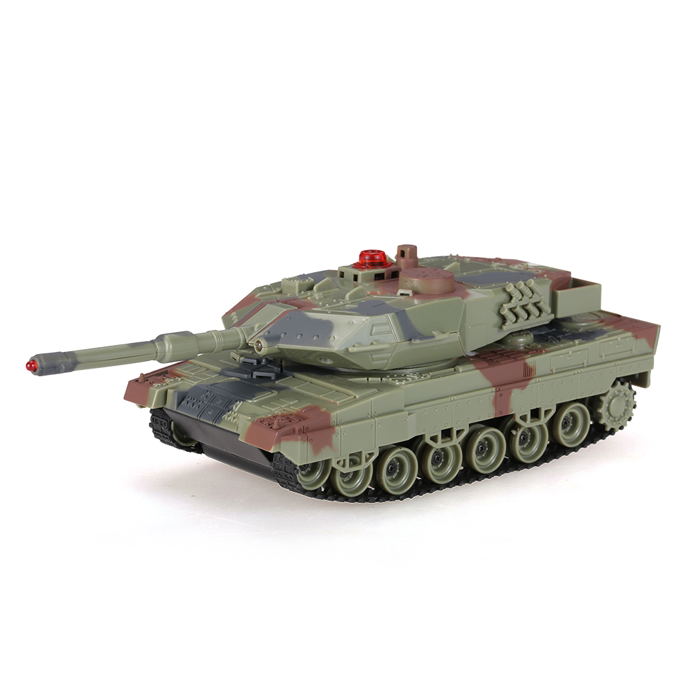 army green Original HuanQi H500 1/36 German Leopard ⅡA6 Infrared Shooting  Bluetooth Gravity Induction RC Battle Tank - RcMoment com