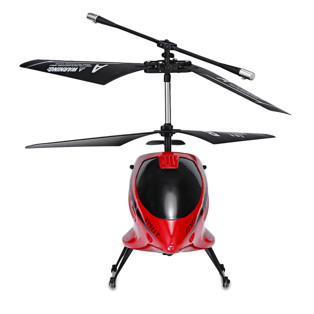 Red Flytec Ty911t 3 5ch Metal Rc Helicopter With Gyroscope For Kids