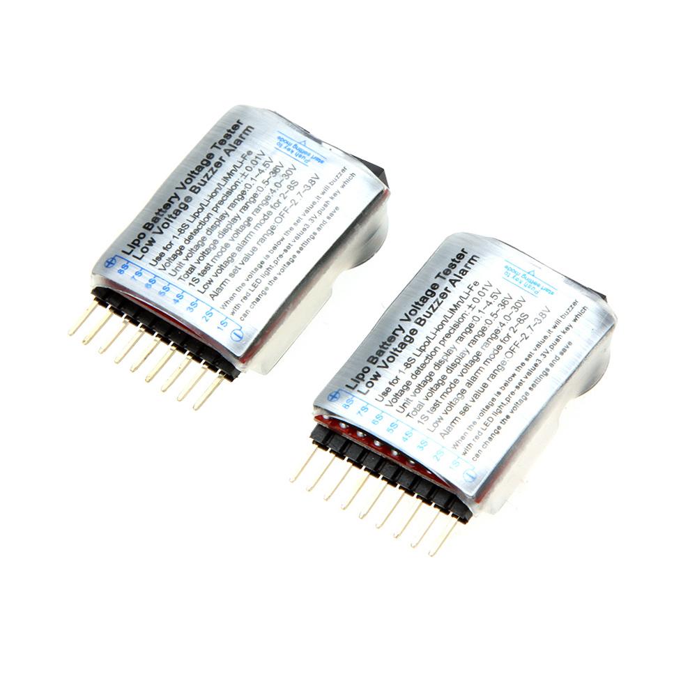 2pcs 1 8s Indicator Rc Li Ion Lipo Battery Tester Low Voltage Buzzer Alarm Circuit
