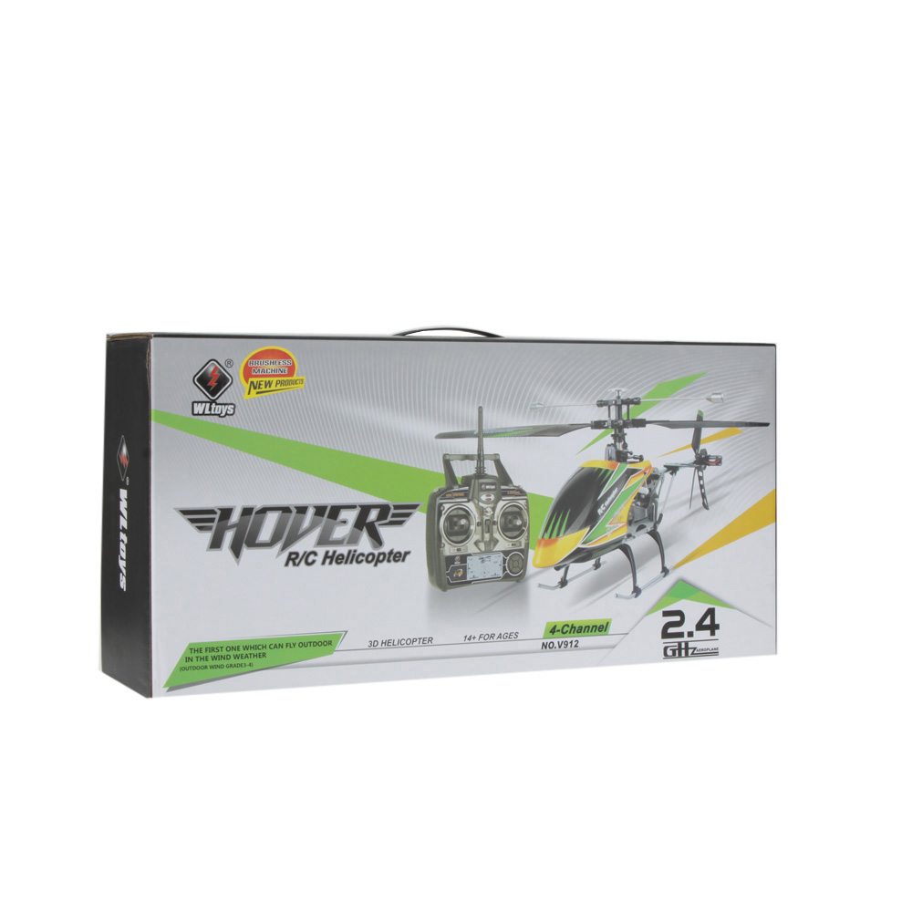 Original Wltoys V912 Brushless Upgrade Version Perfect 4CH Single Blade RC  Helicopter
