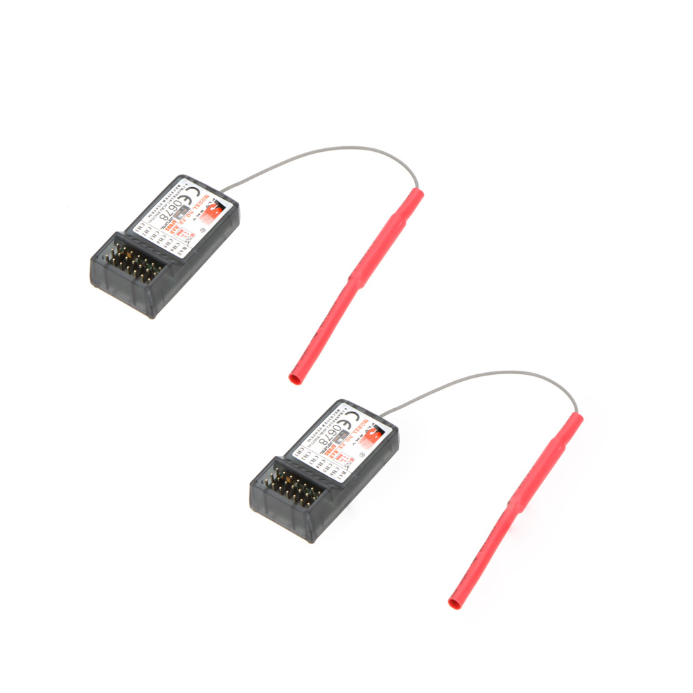 2 Pcs Original Flysky Fs R6b 24ghz 6ch Receiver For Th9x Remote Rc Gt3b Goolrc Ct6b T6 Transmitter