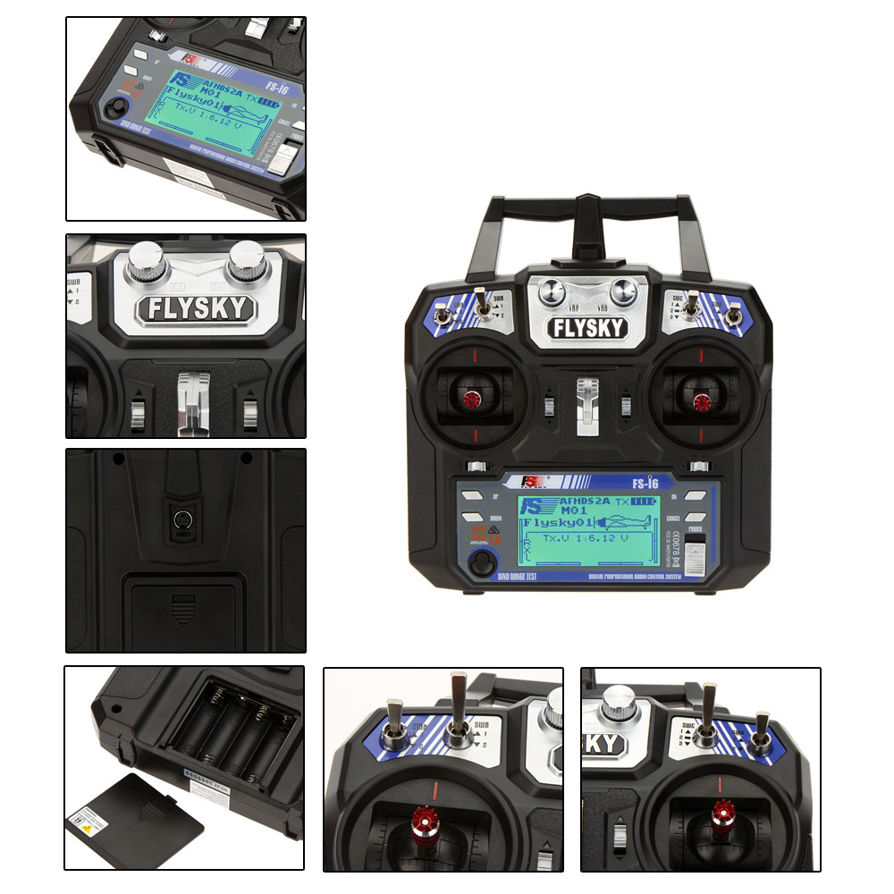Flysky FS-i6 AFHDS 2A 2 4GHz 6CH Radio System Transmitter for RC Helicopter  Glider with FS-iA6 Receiver Mode 2