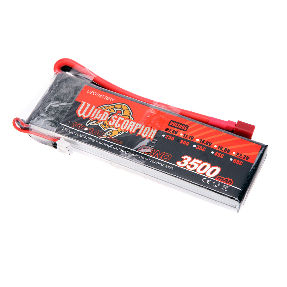 goolrc scorpion sauvage 7 4v 3500mah 30 c max 40 c 2 s t prise lipo batterie pour rc voiture. Black Bedroom Furniture Sets. Home Design Ideas