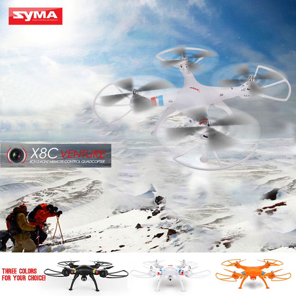 White Us Syma X8c 24g 4ch 6 Axis Gyro R C Quadcopter Rtf Drone With Rc Venture 24ghz 2 Mp Full Hd Camera