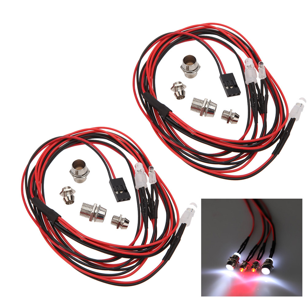 Rc Car Lights Best Led For Truck Sale Rcmoment Lamp Lightings Gt Wholesale Lamps 5mm Leds 2 Sets 1 10 8 Upgrade Parts 4 Light Set Headlight Taillight