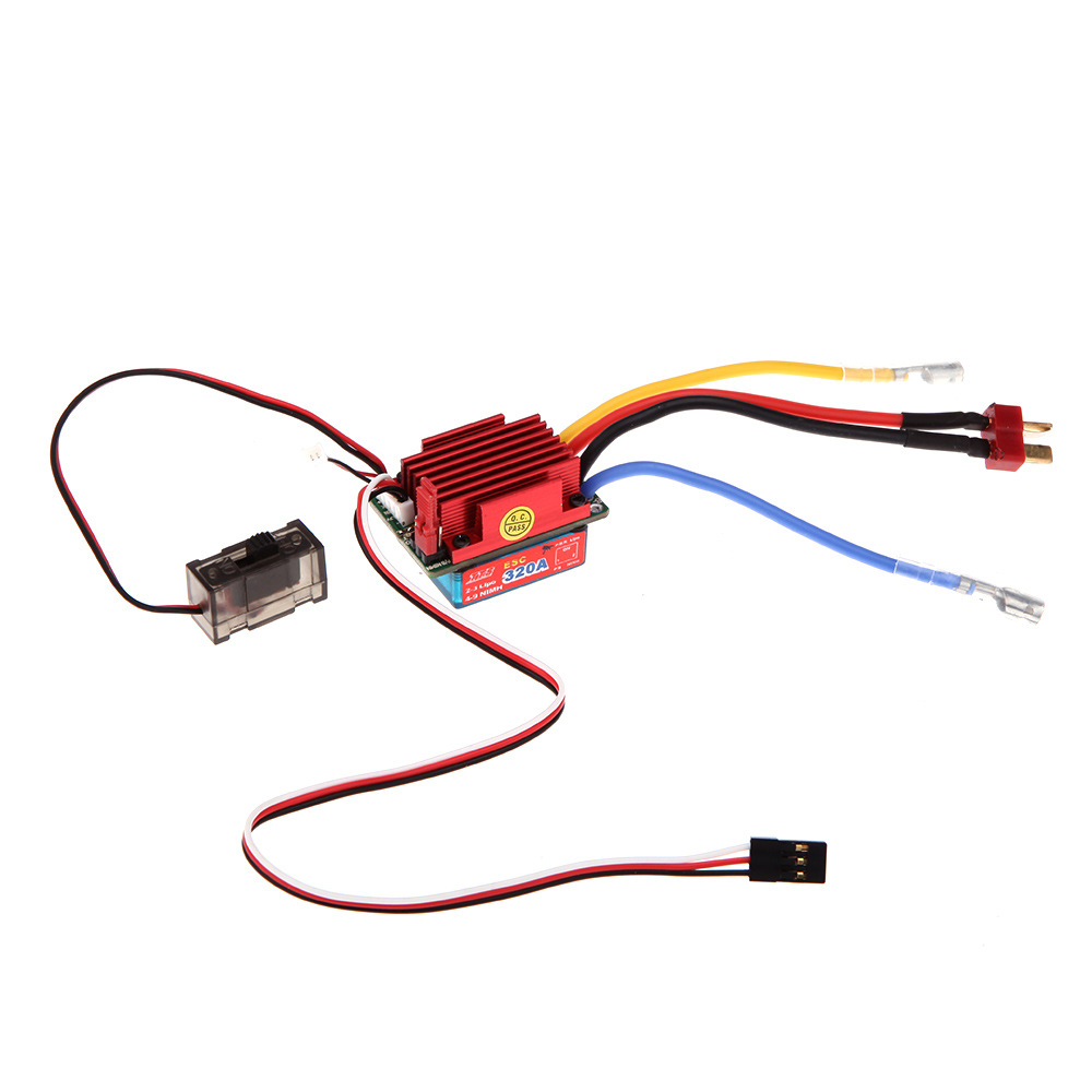 Red 320a High Voltage Esc Brushed Bidirection Speed Controller Over And Low Protection Circuit