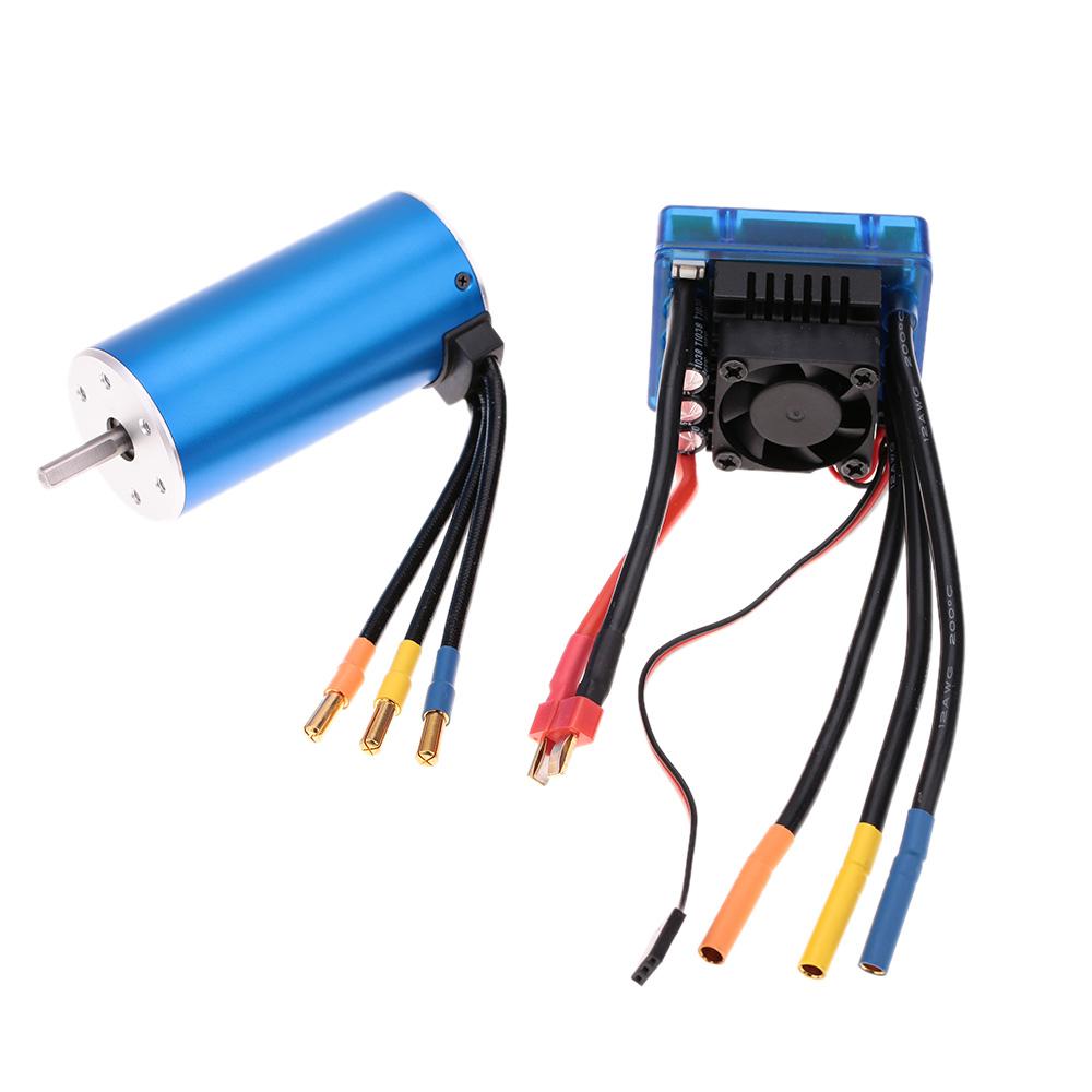 3674 2250KV 4P Sensorless Brushless Motor with 120A Brushless ESC ...