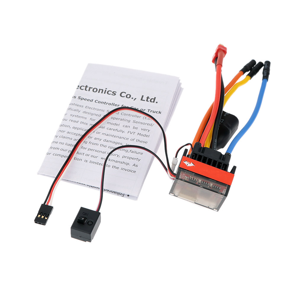 Fvt Wolf 2 3s Lipo Battery 35a Pro A High Voltage Waterproof Car Protection Adding Cutoff To Circuit Electrical Brushless Electronic Speed Controller Esc With Switch Mode 6v 2a Bec For 1 10 Rc Racing