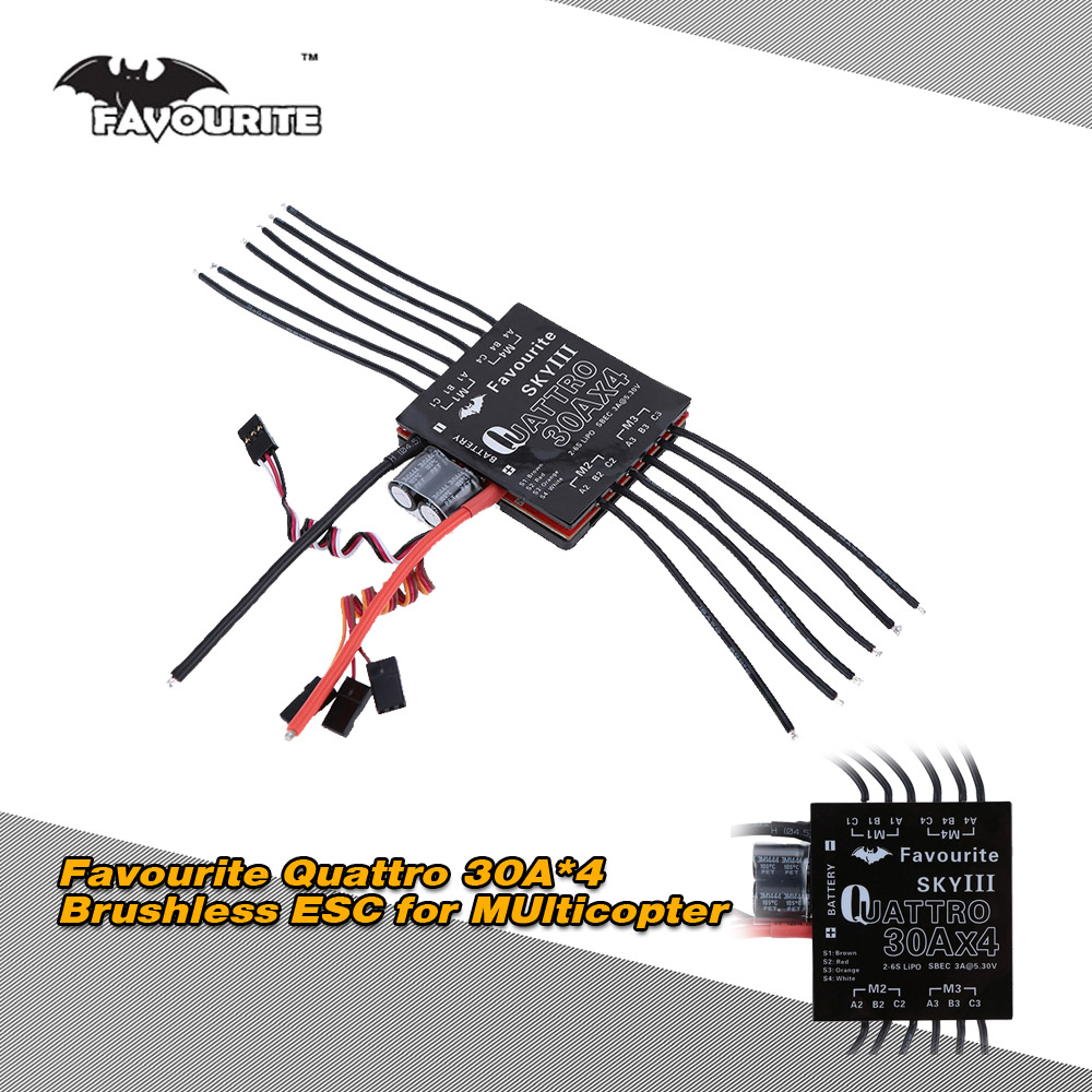 Favourite Eagle Series Sky 3 Quattro Four In One 30a4 2 6s Lipo Esc 30a Brushless Motor Speed Controller Rc For Quadcopter Airplane