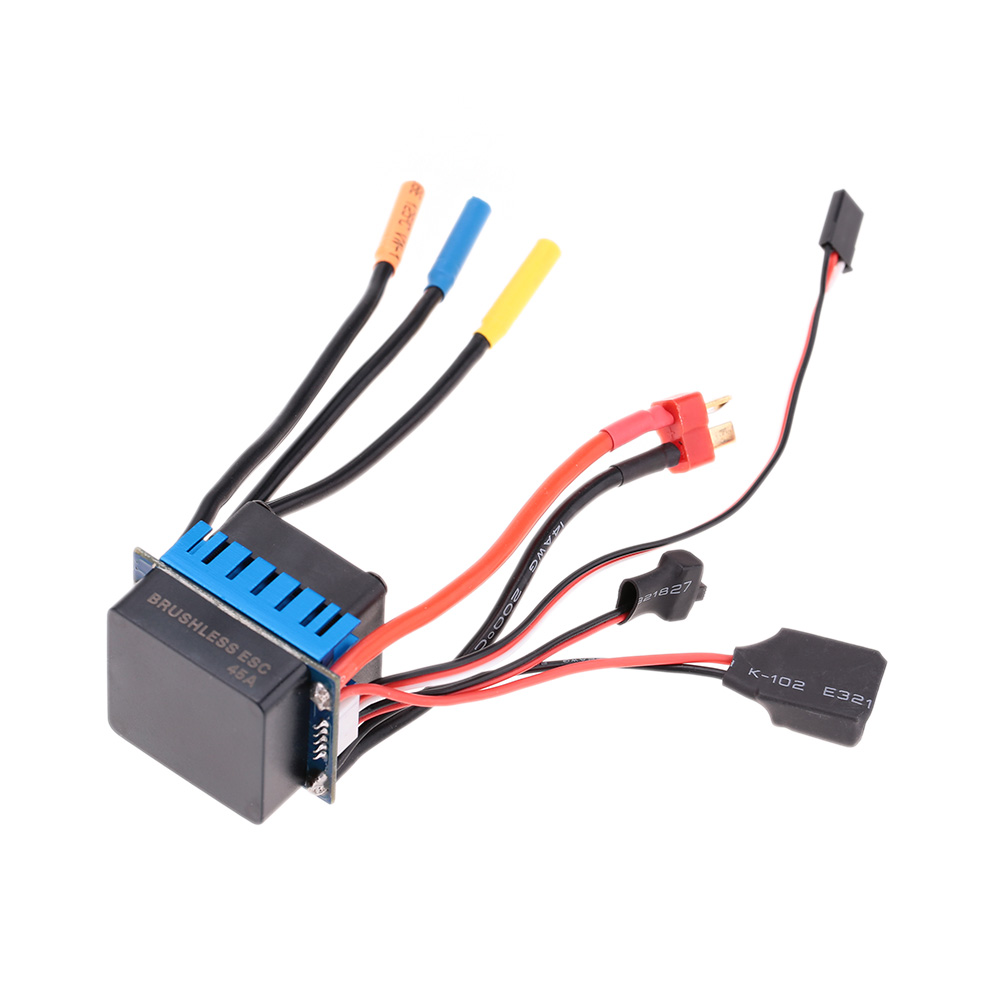 Black 45a brushless esc electric speed controller with 5 for Dc motor controller for electric car