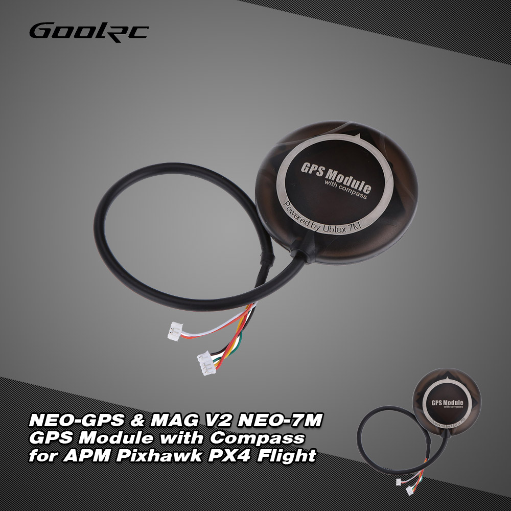 NEO-GPS & MAG V2 NEO-7M GPS Module with Compass for APM Pixhawk PX4 Flight  - RcMoment com