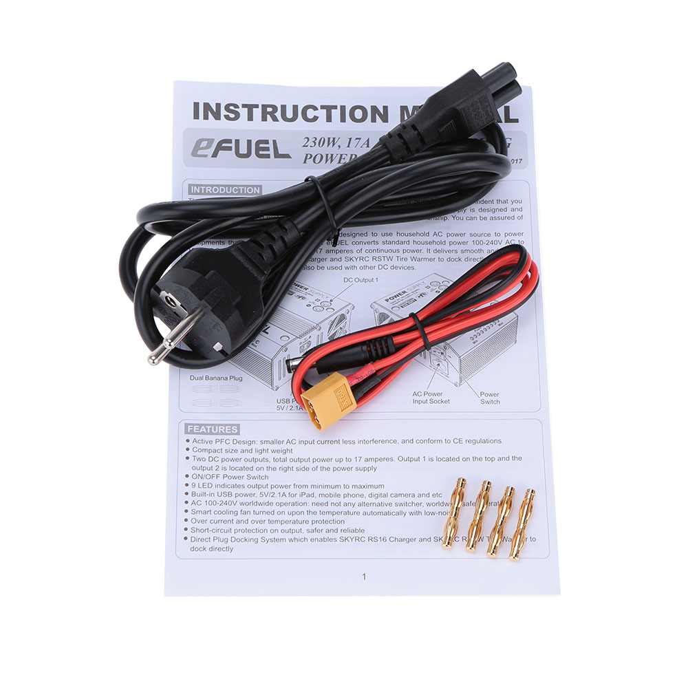 Original Skyrc Efuel 230w 17a Ac 100 240v To Dc 138v Power Supply Supplies Introduction For Rc Helicopter Battery Charger