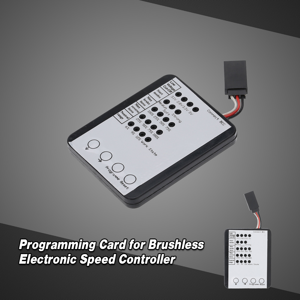 Programming Card for RC Car ESC Brushless Electronic Speed Controller
