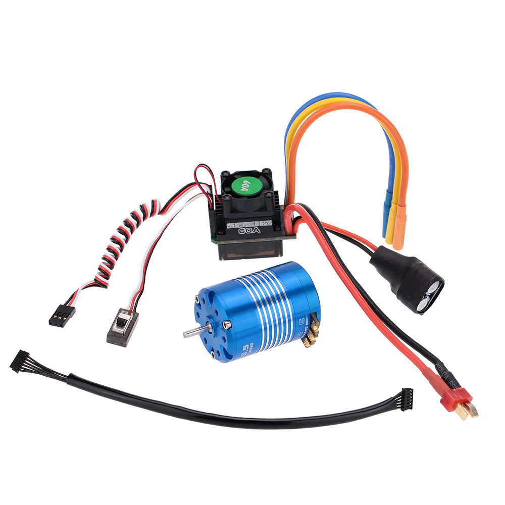 60a Sensored Sensorless Brushless Electronic Speed Controller 540 Motor Wiring 135t For 1 10 Rc Car
