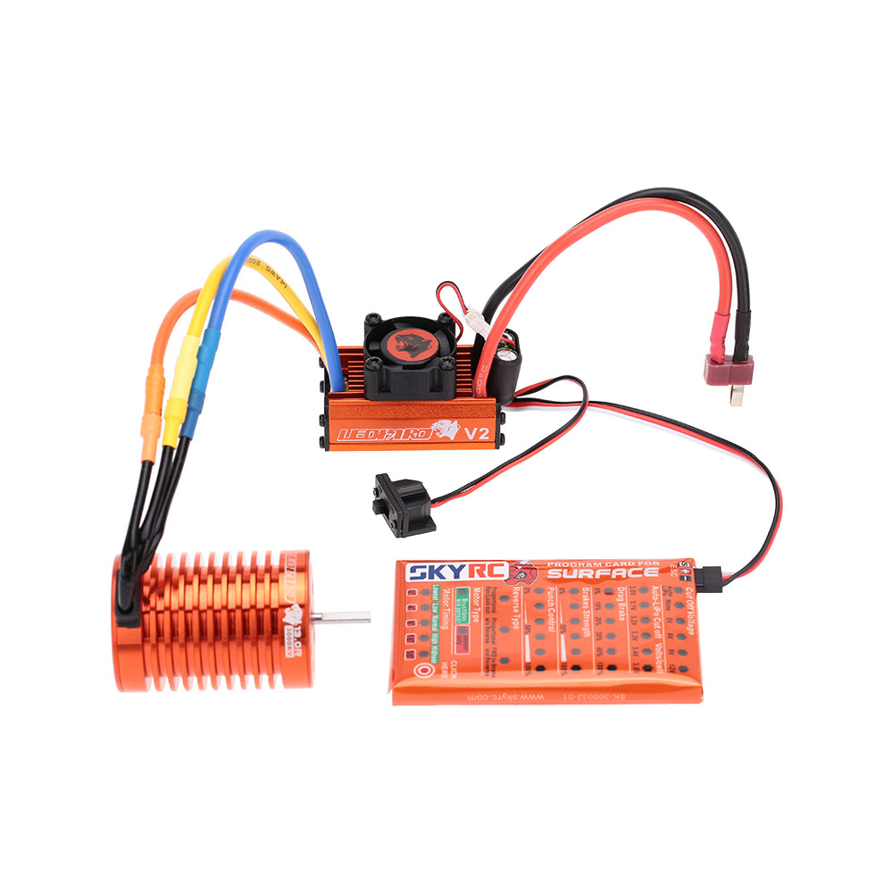 Skyrc 13t 3000kv Brushless Motor 60a Esc With 5v 2a Bec Wiring Linear Mode Program Card Combo Set For 1 10 Rc Car