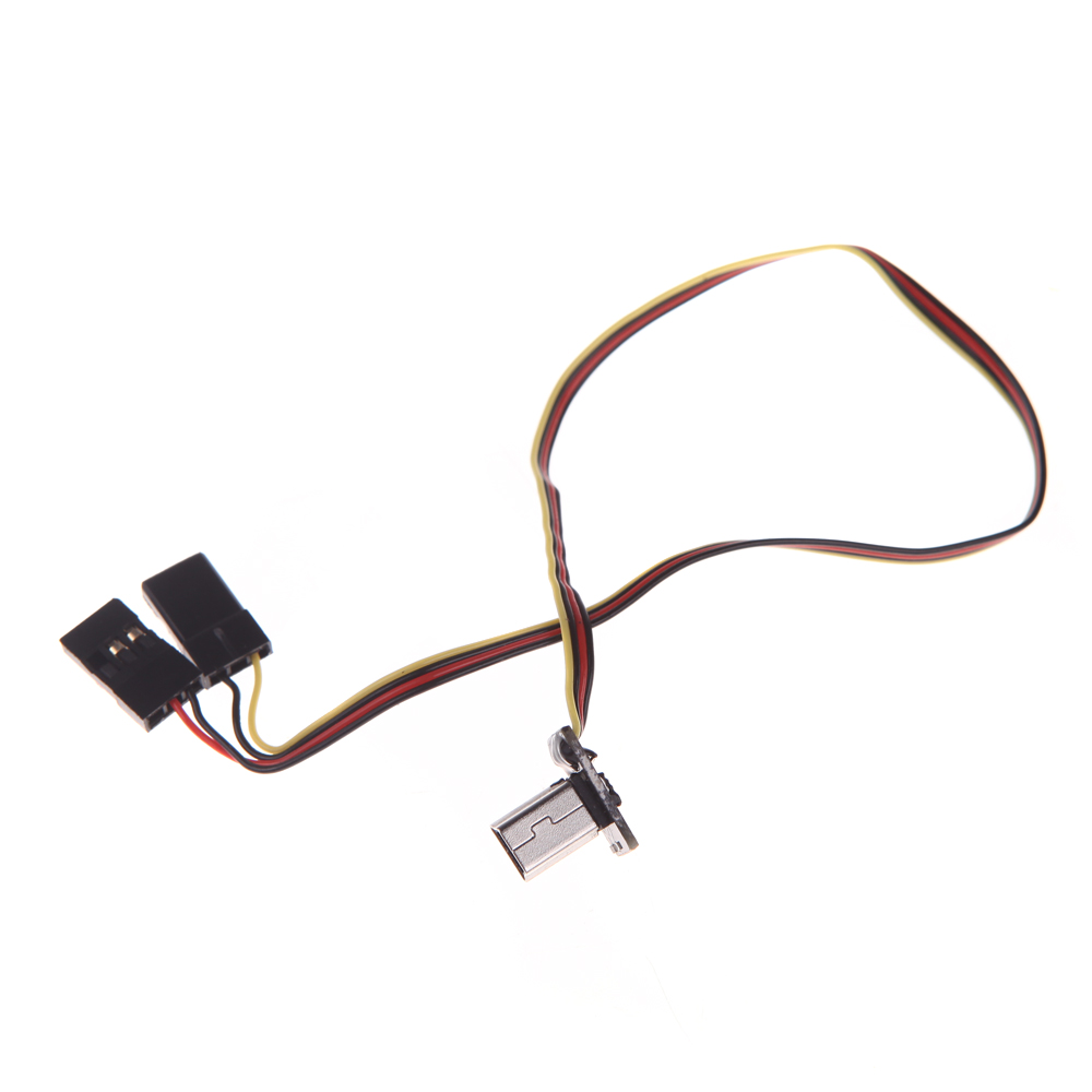 goolrc usb 90 degree to av video output  u0026 5v dc power bec