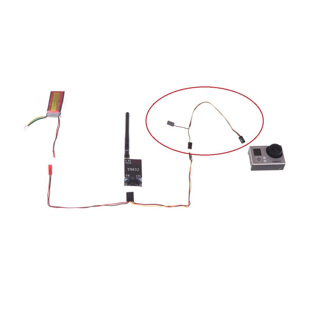 GoolRC USB 90 Degree to AV Video Output & 5V DC Power BEC Input Cable FPV  for Gopro Hero 3 camera(AV Video Output,5V DC Power BEC Input Cable,Gopro  Hero ...