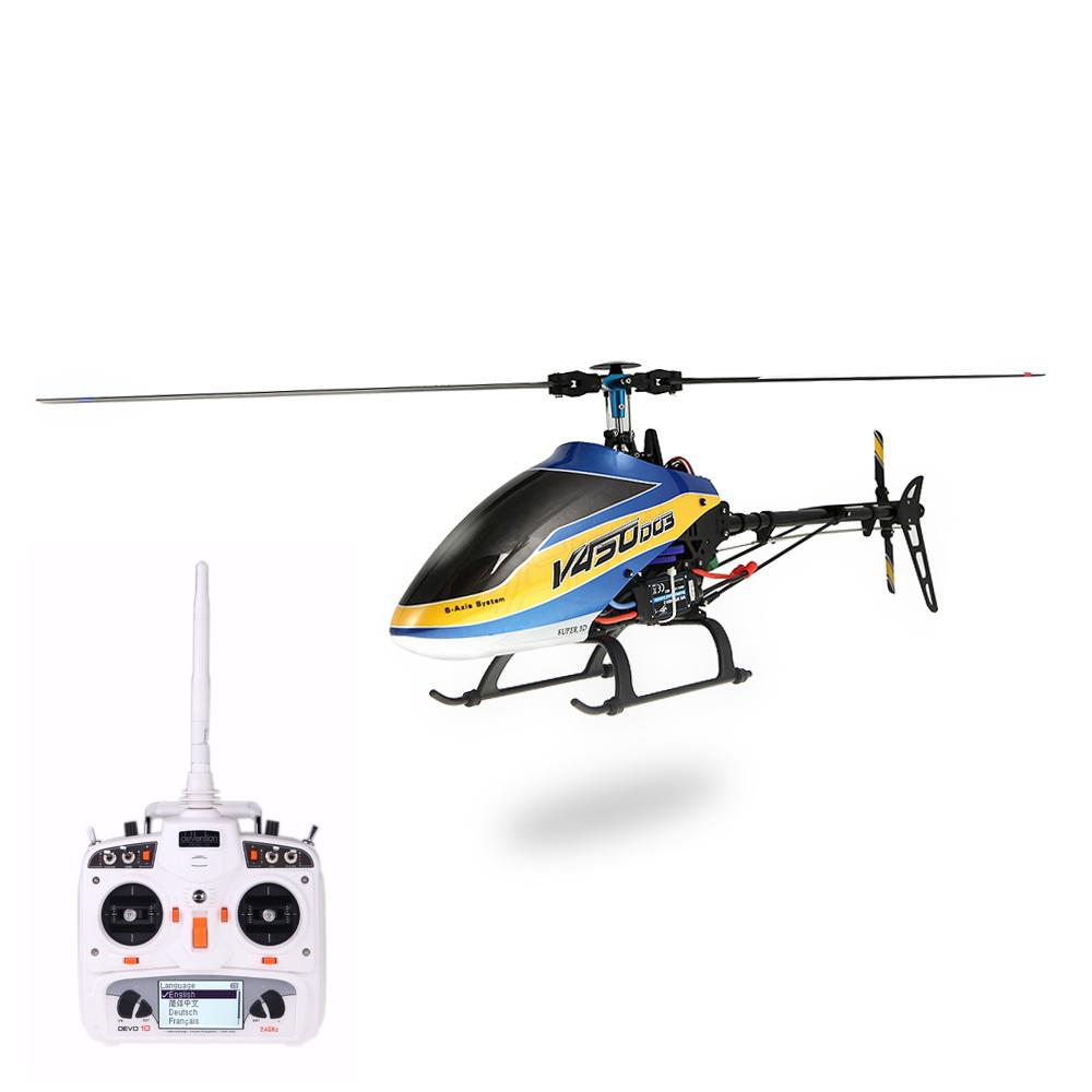 Elicottero 450 : Walkera v450d03 6ch 450 fbl rc elicottero w bianco devo 10