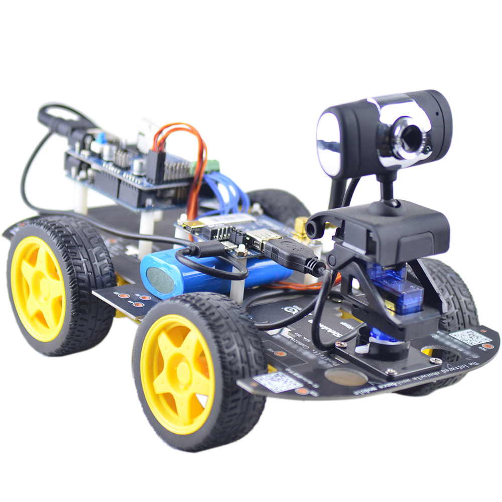 Us smart wifi 4wd diy rc robot car with 13mp hd camera support pc smart wifi 4wd diy rc robot car with 13mp hd camera support pc mobile phone control monitoring malvernweather Images