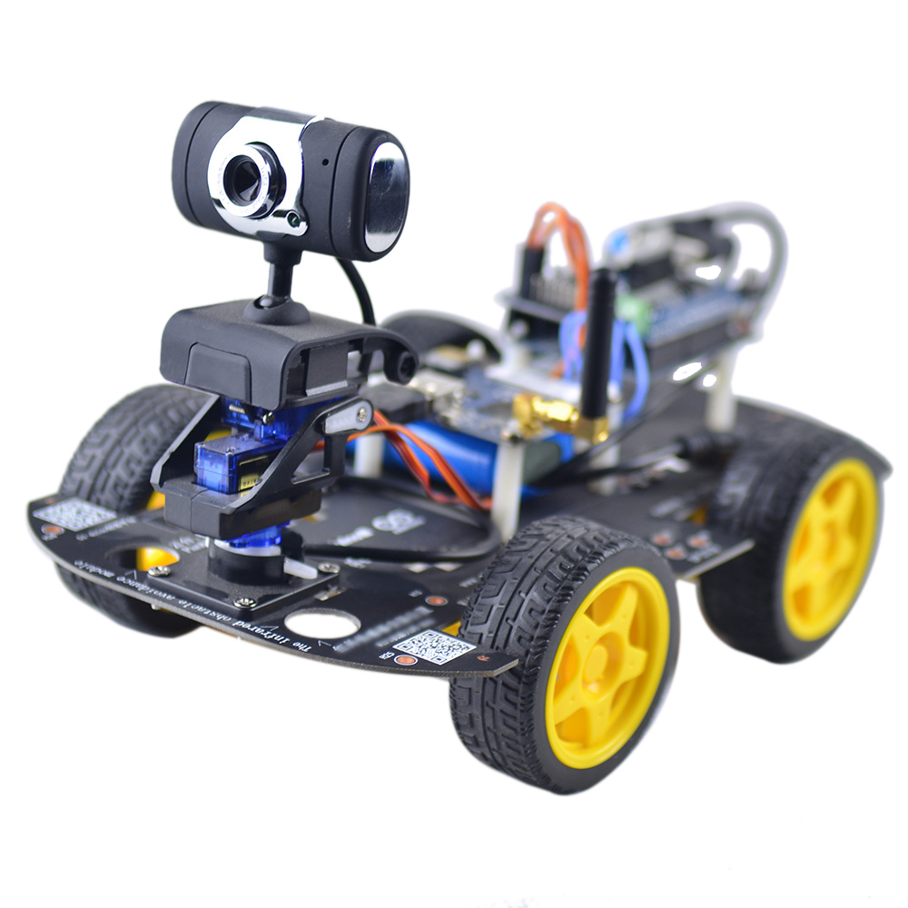 Us smart wifi 4wd diy rc robot car with 13mp hd camera support pc smart wifi 4wd diy rc robot car with 13mp hd camera support pc mobile phone malvernweather Choice Image