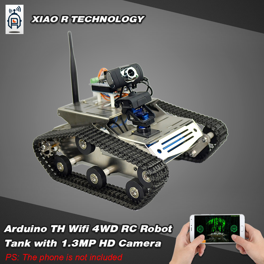 us Smart Wifi DIY Crawler RC Robot Tank with 1 3MP HD Camera Support PC  Mobile Phone Control Monitoring - RcMoment com