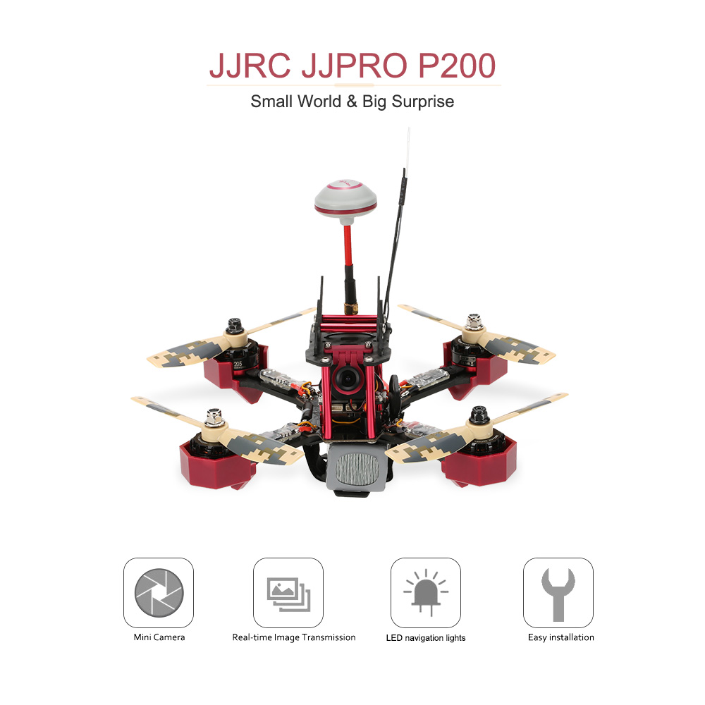 Us Original Jjrc Jjpro P200 Fpv Racing Drone Skyline32 58g 600mw Wiring Diagram 48ch Raceband 800tvl Hd Camera 24g 6 Channel Rc Quadcopter Multicopter Rtf