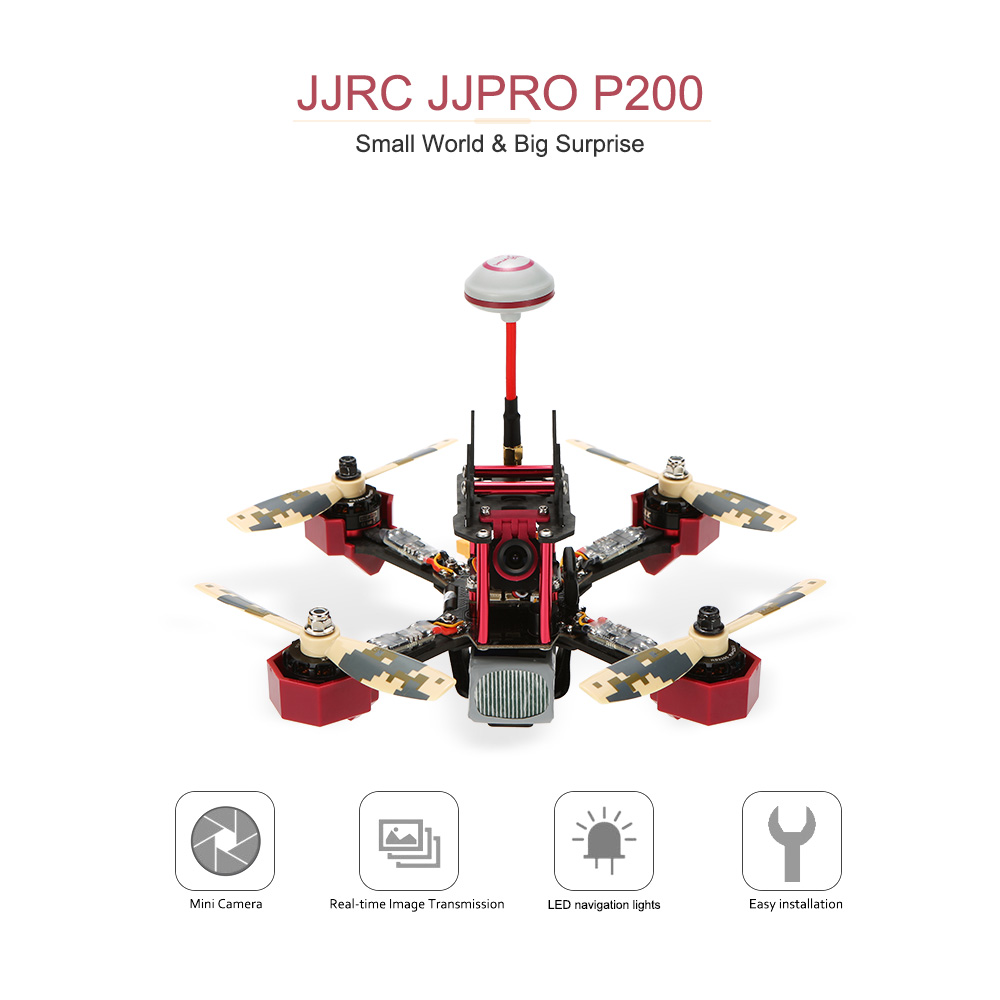 Eu Original Jjrc Jjpro P200 Fpv Racing Drone Skyline32 58g 600mw Wiring Diagram 48ch Raceband 800tvl Hd Camera 24g 6 Channel Rc Quadcopter Multicopter Arf