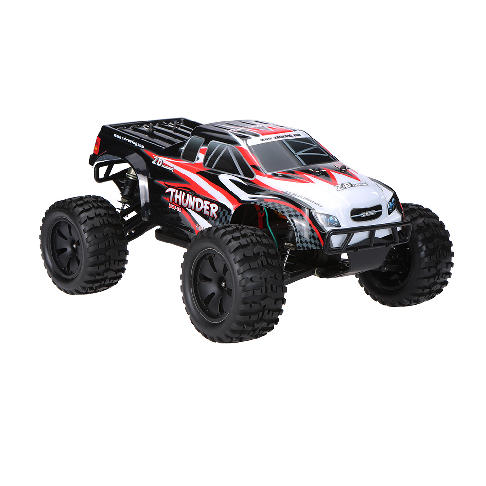 black eu zd racing thunder zmt 10 brushless electric monster truck rc car 2 4ghz 4wd 1. Black Bedroom Furniture Sets. Home Design Ideas