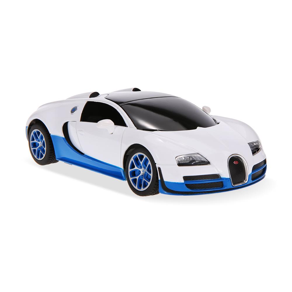 white rastar 47000 27mhz r c 1 24 bugatti grand sport. Black Bedroom Furniture Sets. Home Design Ideas