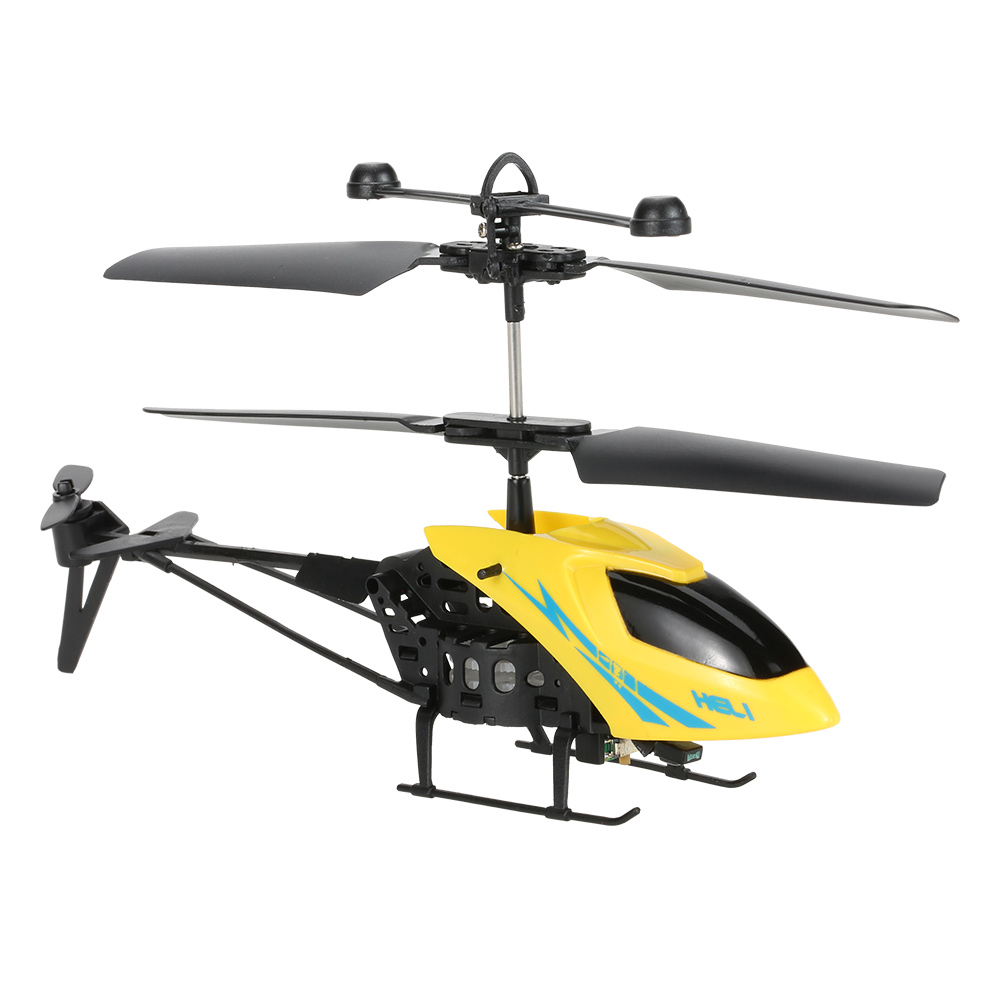 yellow MJ901 2.5CH Mini Infrared RC Helicopter Radio Remote Control on
