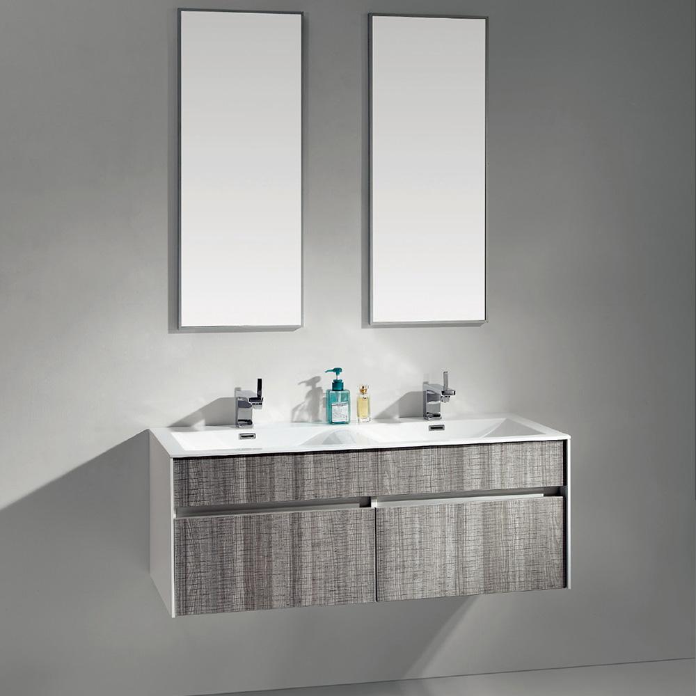 meuble salle de bain gris chiné