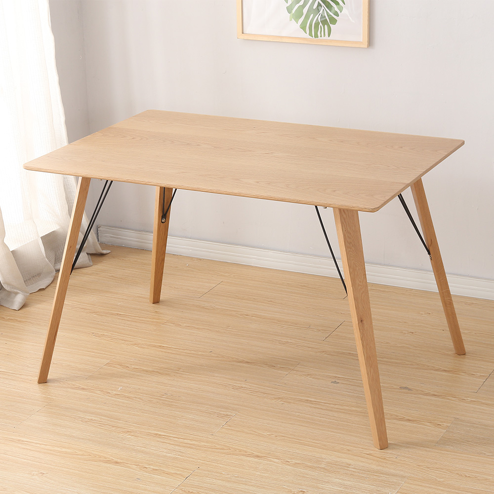 Table manger style scandinave bois 120cm 4 personnes for Table a manger 4 personne