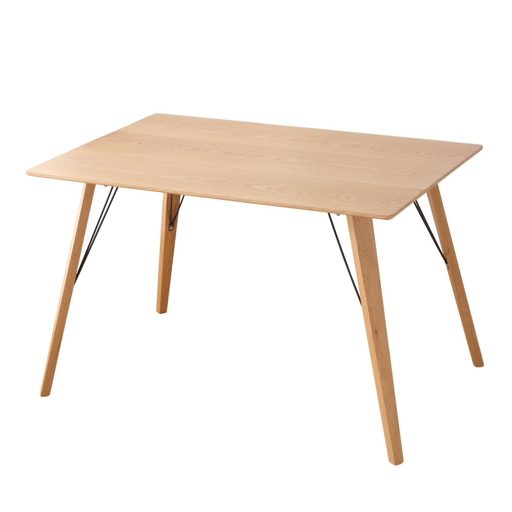 Table manger style scandinave bois 120cm 4 personnes for Table bois clair scandinave