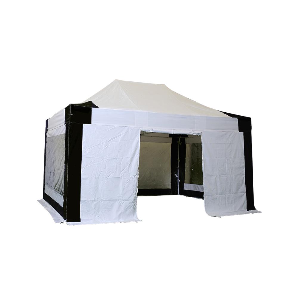 alu 40 faltzelt mit 4 seitenw nde in polyester pvc beschichtet 300g m. Black Bedroom Furniture Sets. Home Design Ideas