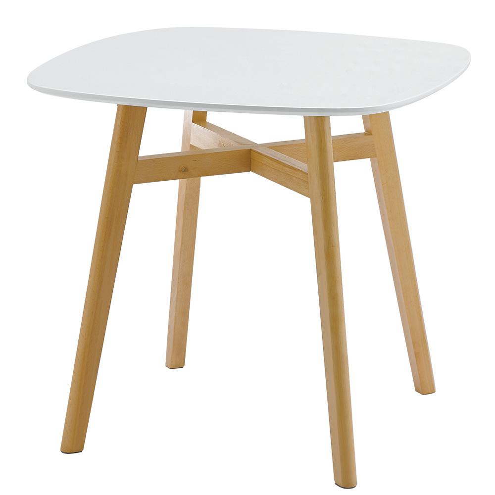 table manger carr e design 2 4 personnes blanc. Black Bedroom Furniture Sets. Home Design Ideas