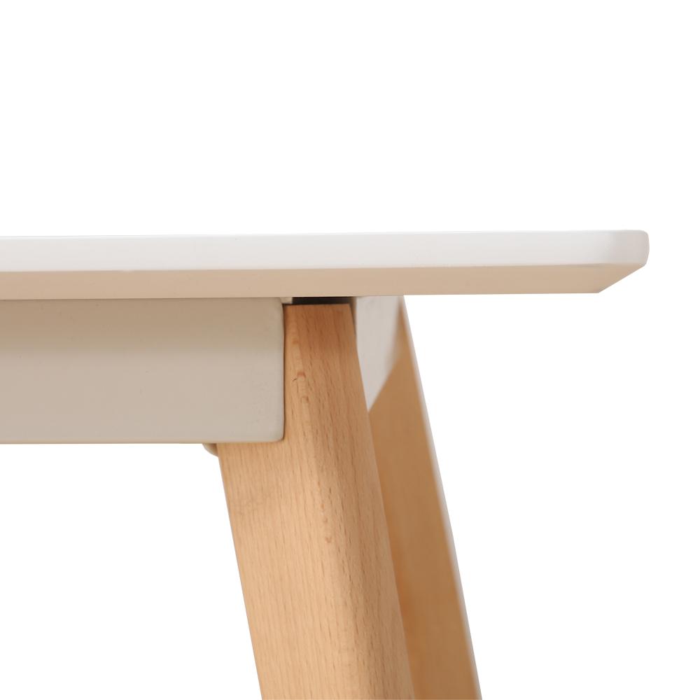 table manger scandinave pour 4 personnes blanc. Black Bedroom Furniture Sets. Home Design Ideas