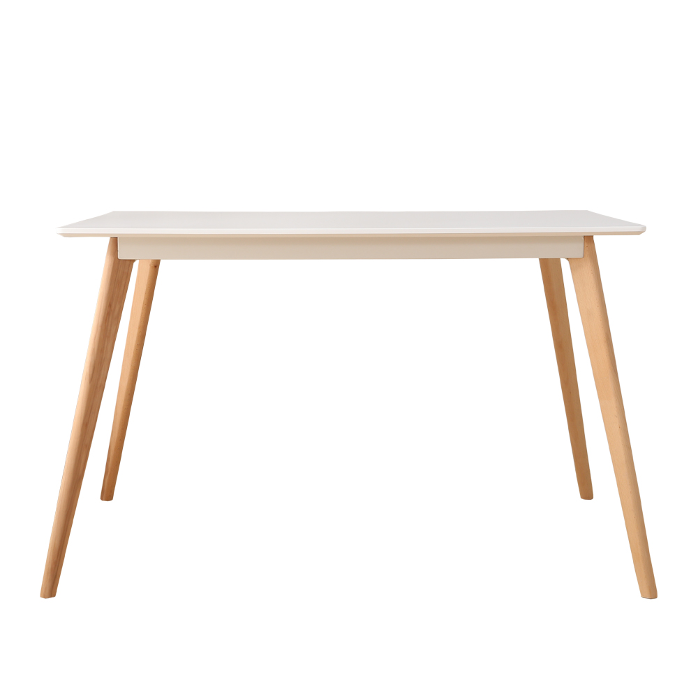 table manger style scandinave bois 120cm 4 personnes blanc. Black Bedroom Furniture Sets. Home Design Ideas