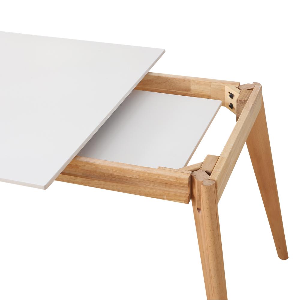 Nur 259.00€, Table à manger style scandinave bois extensible 120 ...